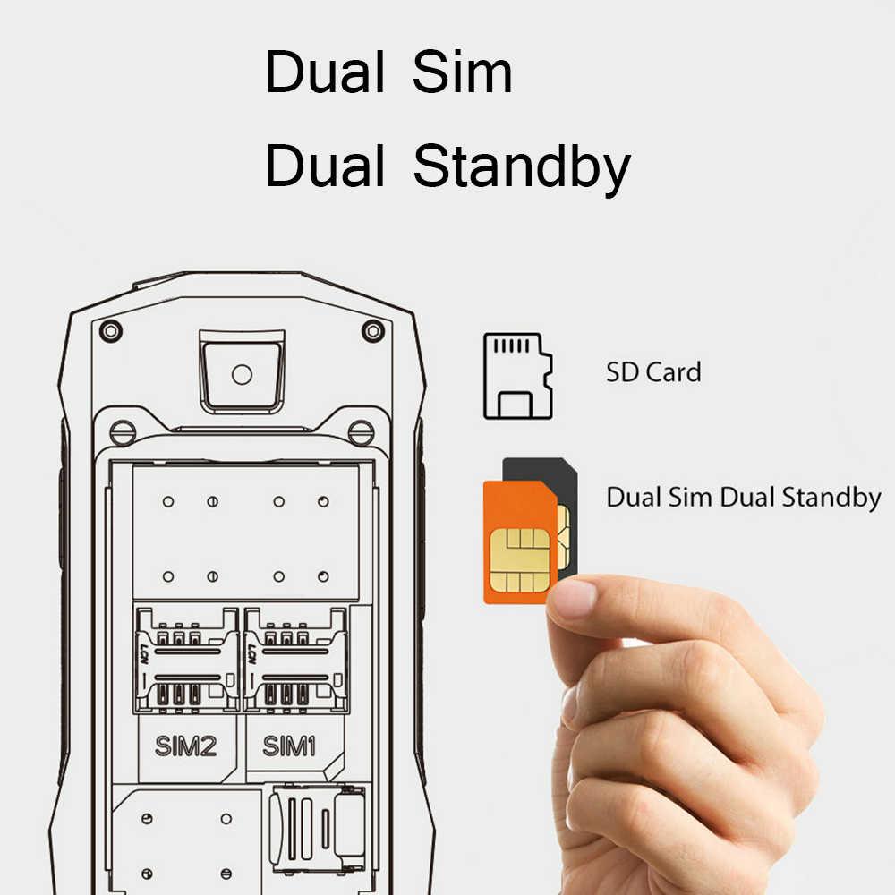 """Blackview Original BV1000 2.4 """"IP68 étanche téléphone portable robuste extérieur clavier russe double SIM lampe de poche téléphone portable dur"""