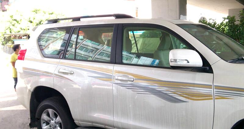 For Toyota Land Cruiser Prado FJ150 2010 2011 2012 2013-2015 2016 2017 2018 Roof Rails Rack Luggage Carrier Bars car accessories