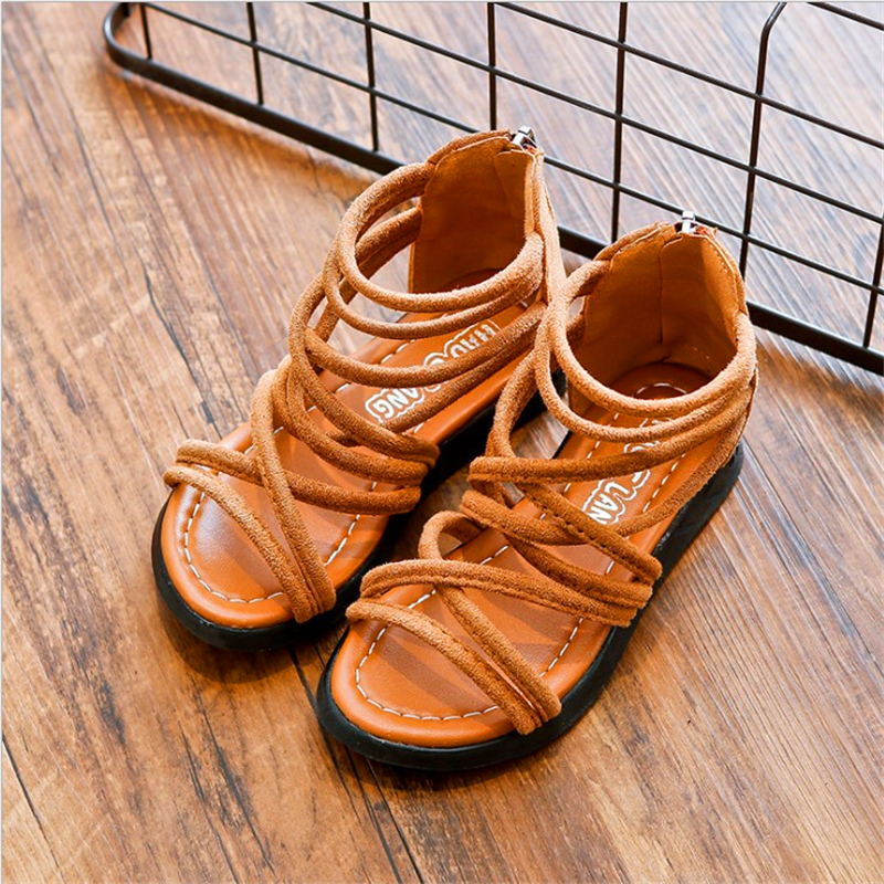Fashion Baby Girl Sandals Boots Toddler Infant Gladiator Shoes Walking Soft Size