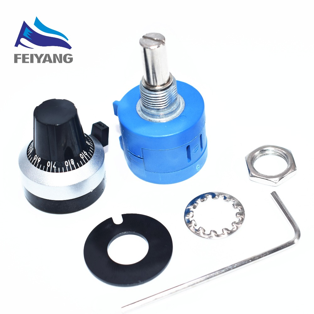 1PCS 3590S-2-103L 3590S 10K ohm Precision Multiturn Potentiometer 10 Ring Adjustable Resistor + Turns Counting Dial Rotary Knob1PCS 3590S-2-103L 3590S 10K ohm Precision Multiturn Potentiometer 10 Ring Adjustable Resistor + Turns Counting Dial Rotary Knob