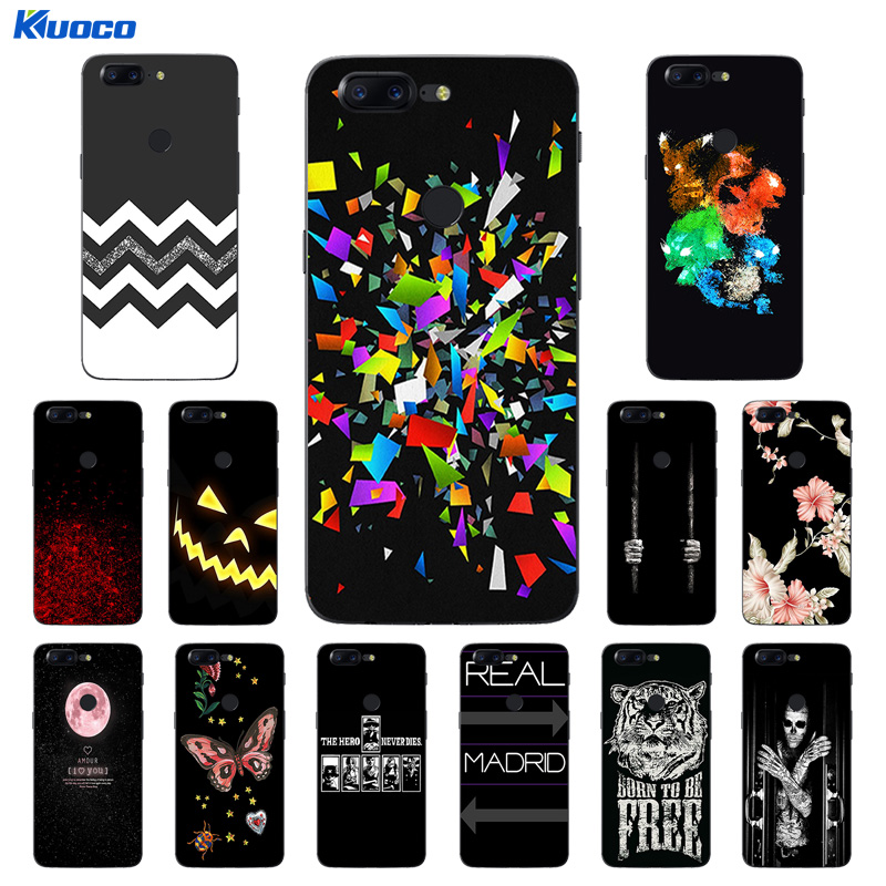 For OnePlus 5T 1+5T Case Luxury TPU Silicone Character Printing Case For OnePlus 1+5T Soft Transparent Back Cover Funda Coque