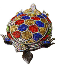 Schildkröte abendtasche Stilvolle Goldene Kristall Abendtasche luxus kristall damen partei handtaschen hochzeit handtaschen 88384