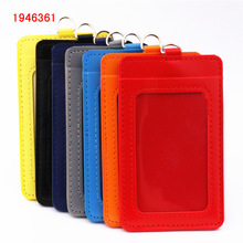 Badge-Holder-Accessories Id-Badge-Case Credit-Card Clear Pu-Leather-Material Luxury Bank