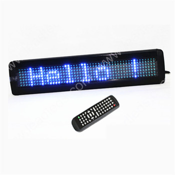7x50 pixels Blue One Line Scrolling Message Display Remote Programmable LED Sign