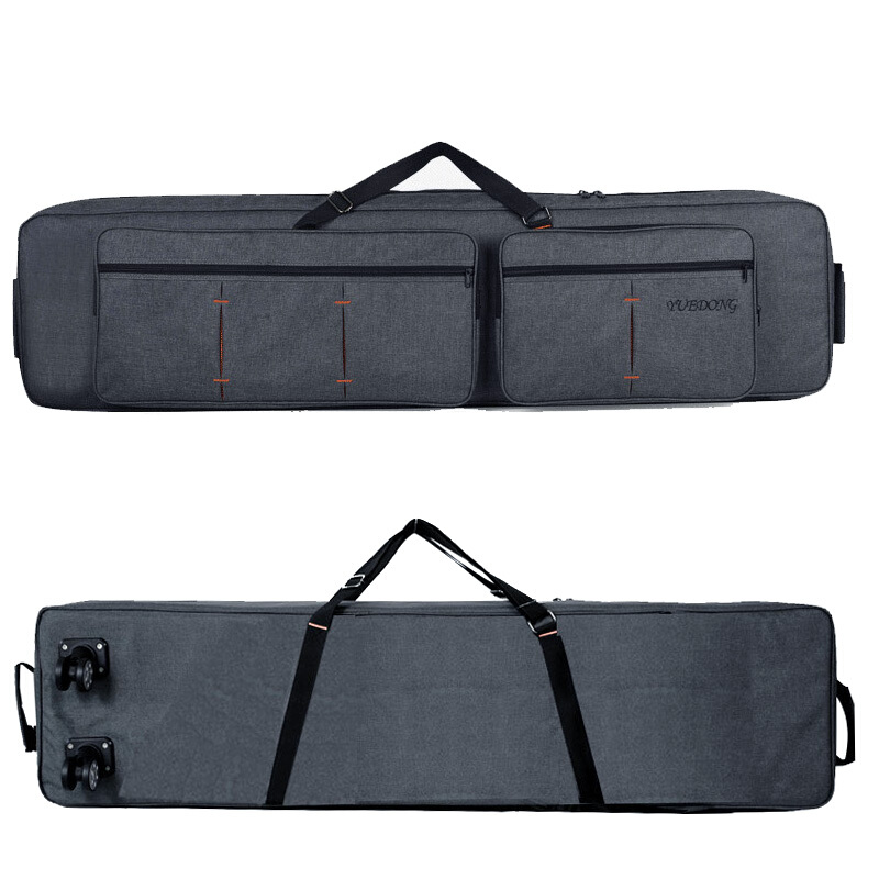 Professional protable 88 key keyboard electronic organ bag backpack soft gig shoulders/ roller synthesizer package case cover professional portable 14snare drum package bag cover box dumb drum shoulders backpack black carrying case drums instrument gig