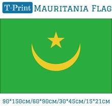 где купить Free shipping 60*90cm/15*21cm/90*150cm/30*45cm Car Flag Mauritania National Flag 3x5ft Banner Brass Grommets по лучшей цене