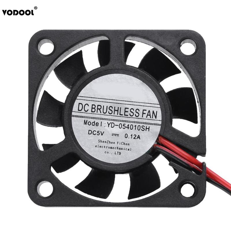 VODOOL Mini 40x40x10mm 9 Blades PC Computer Cooling Fan Waterproof 5V 0.12A Low Noise Brushless DC Cooler Cooling Fan Heatsink computer cooling