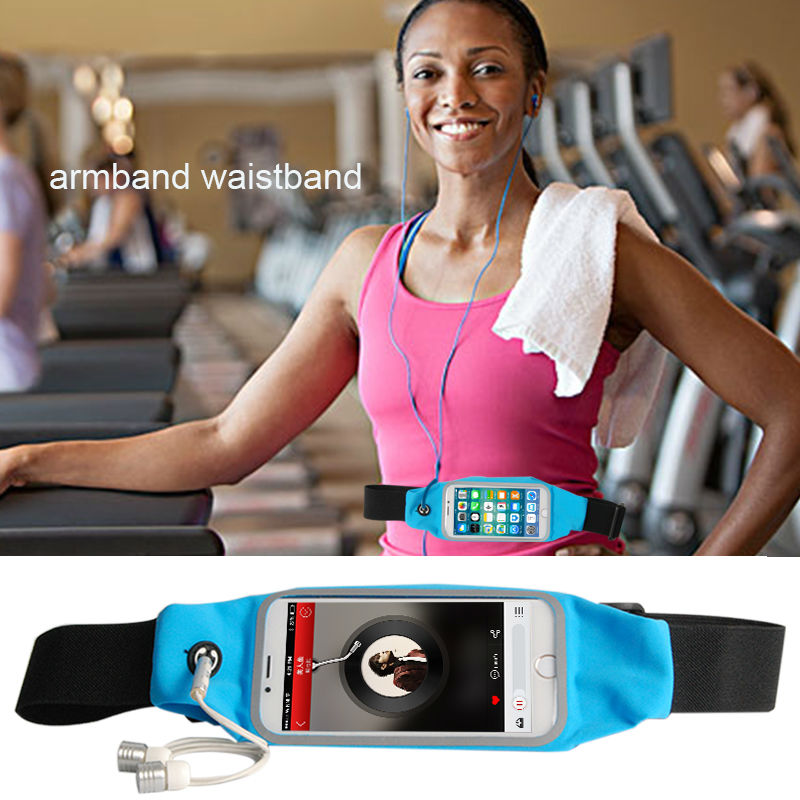 for Iphone 7 Case Sport Waistbag Cover for Apple 7 plus 6 6s plus 5s SE 4s Running Case for Samsung S8 Sweatband Wrist Cover Bag