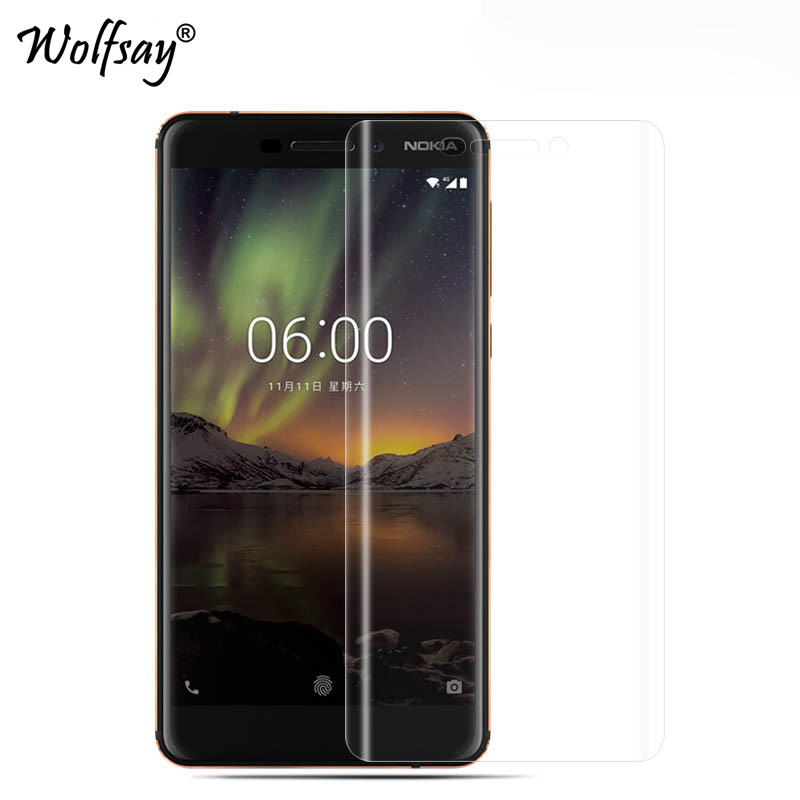 2pcs Soft Edge <font><b>TPU</b></font> Film For <font><b>Nokia</b></font> 6 2018 Screen Protector Soft Tempered Glass For <font><b>Nokia</b></font> <font><b>6.1</b></font> TA-1043 Phone Film For <font><b>Nokia</b></font> 6 2018 image