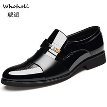 Whoholl Brand 2019 Business Dress Men Shoes New Classic Leather MenS Suits Fashion Slip on Oxfords