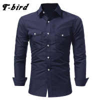 T Bird Shirt Men 2017 Brand Casual Long Sleeves Slim Fit Men S Shirt Camisa Masculina