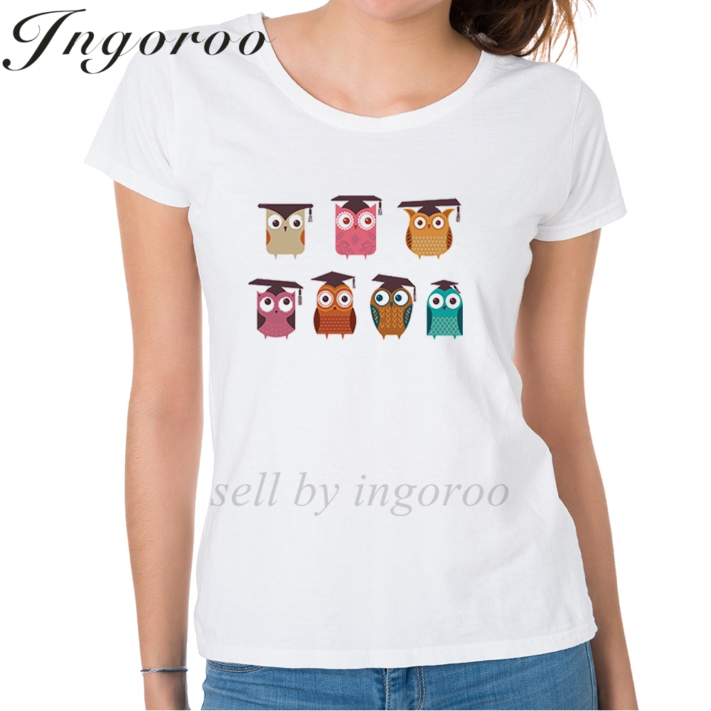 8eab04b1d83 Babaseal 3d Printer Summer Wise Owls Shirts Women Top Brand Shirt Women  Totoro Graphic Tees Plus Size Harajuku Kawaii Tshirt