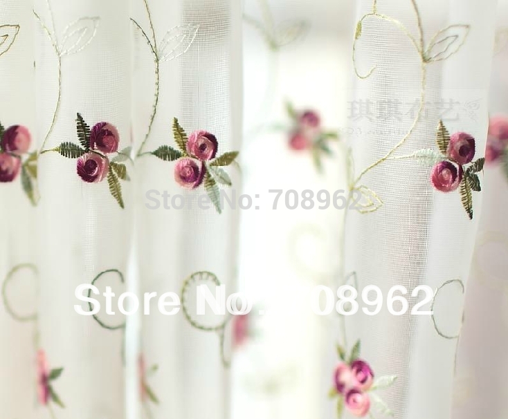 Good Organza Small Roses Embroidered Window Sheer Kitchen Curtain One Piece In Curtains From Home Garden On Aliexpress Alibaba Group
