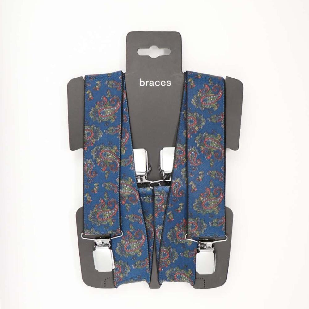 YBMB Suspenders Men  4 Clips Braces X-back Pa High Elastic Business Gift Triangle Mens Fashion Shirt Brace s