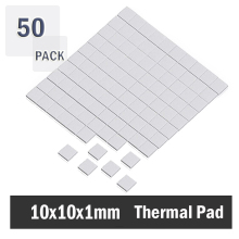 5000PCS Lot 10X10x1MM cpu thermal pad SMD DIP IC Chip Heatsink Thermal Compounds