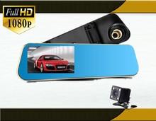 Free shipping Car Camera Car Dvr Blue Review Mirror Digital Video Recorder Auto registrator Camcorder Full HD 1080P Car Dvr