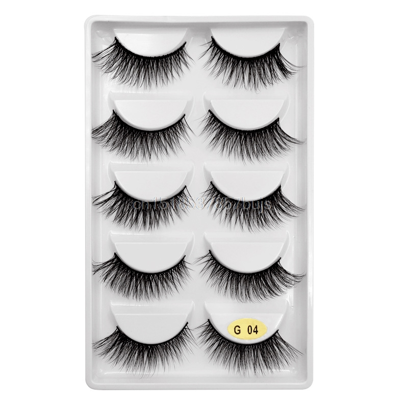 HTB1nKtWXLjsK1Rjy1Xaq6zispXax New 3D 5 Pairs Mink Eyelashes extension make up natural Long false eyelashes fake eye Lashes mink Makeup wholesale Lashes