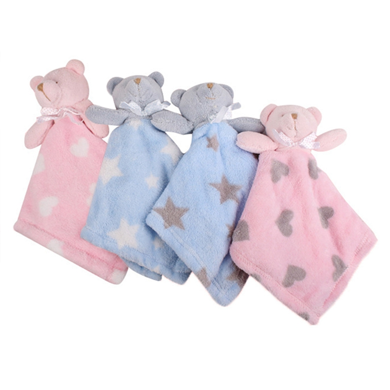 Cute Bear Newborn Blankie Of Baby Toys Infant Soothe Towel Baby Gift To Soothe Towel Educational Plush Toys