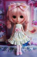 [wamami] Handmade Blyth Outfit Dress Cute Green Wedding Dress Doll Pullip Azone