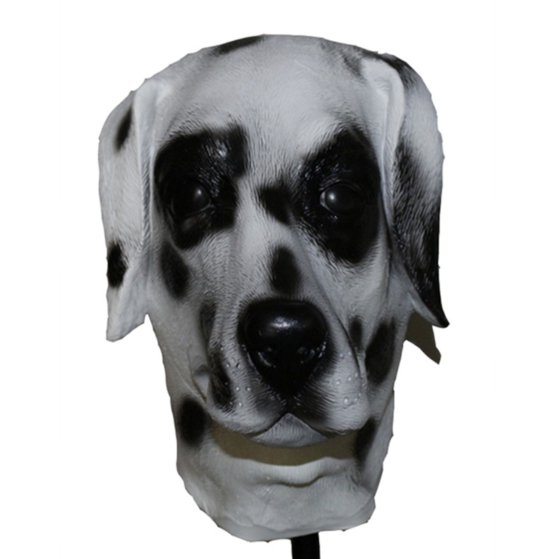 Hot Selling Halloween Cosplay Carnival Accessory Animal Latex Labralor Dog Mask in Party Masks from Home Garden