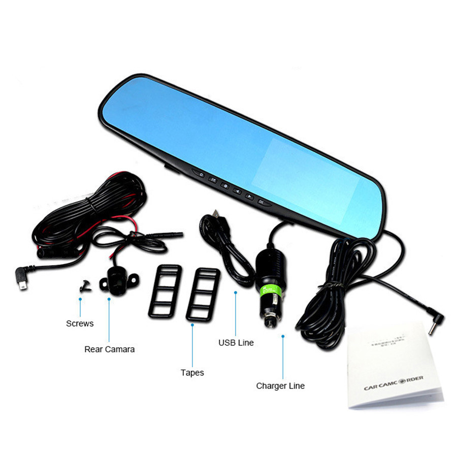 HD 1080P Car Dash Camera Dual Cam Vehicle Front Rear DVR Lens Video Recorder MA