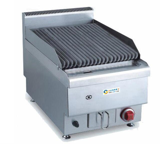 JUS TRH40 gas Counter top lava rock oven grill for bbq and teppanyaki