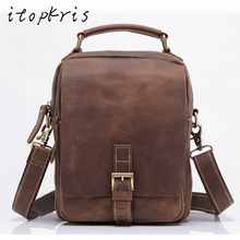 Itopkris Men's Genuine Leather Big Briefcase Fashion Cowhide Travel Case Notebook Large Capacity Business Messenger Male Bag