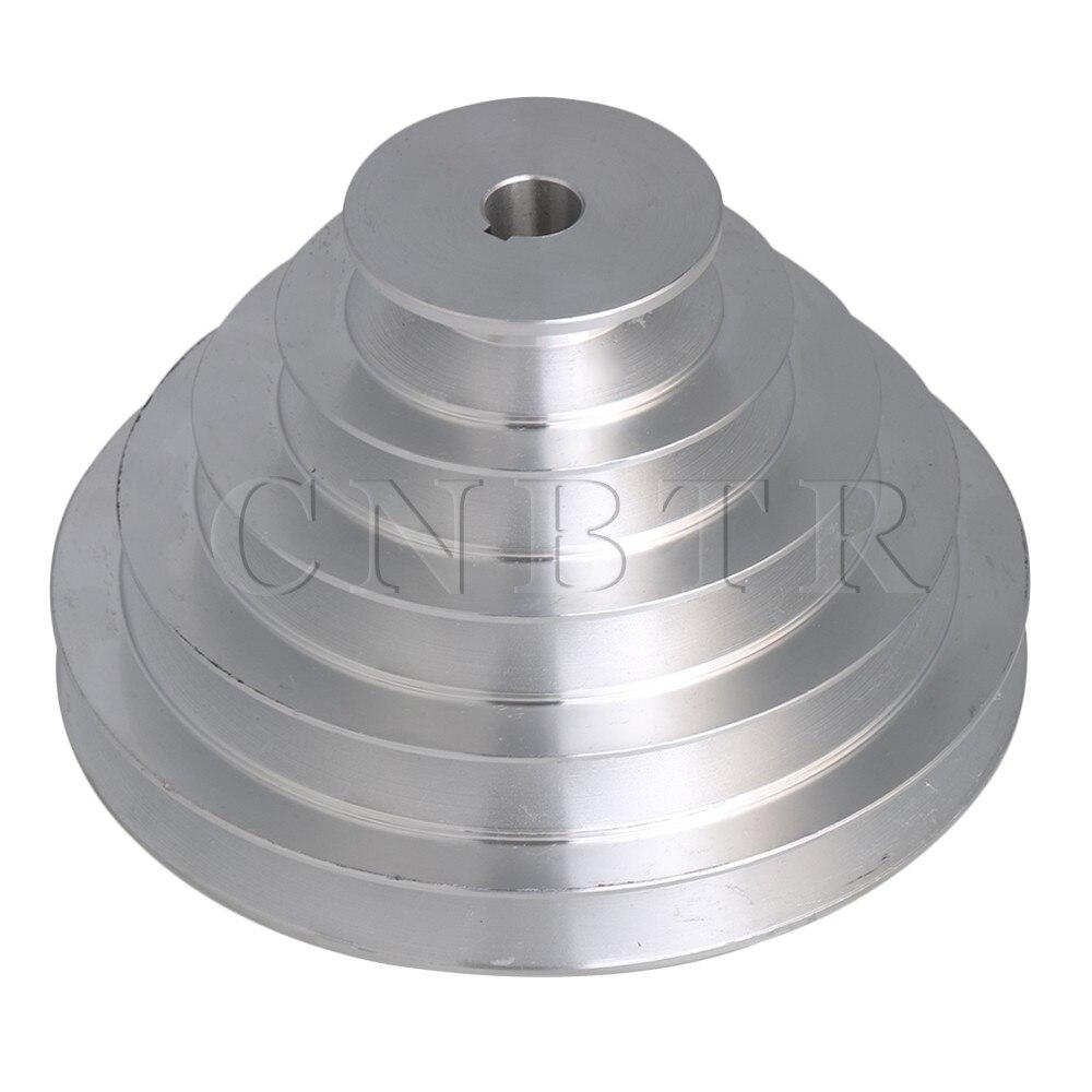 CNBTR 5 Step A Type V-Belt Pagoda Pulley Belt Outter Dia 54-150mm(Hole Dia 14mm,16mm,18mm,19mm,20mm,22mm,24mm,25mm,28mm)CNBTR 5 Step A Type V-Belt Pagoda Pulley Belt Outter Dia 54-150mm(Hole Dia 14mm,16mm,18mm,19mm,20mm,22mm,24mm,25mm,28mm)