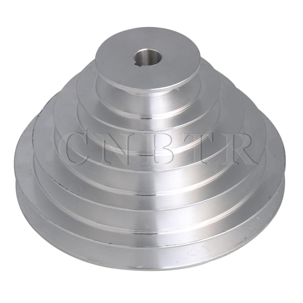 CNBTR 5 Step A Type V-Belt Pagoda Pulley Belt Outter Dia 54-150mm(Hole Dia 14mm,16mm,18mm,19mm,20mm,22mm,24mm,25mm,28mm)