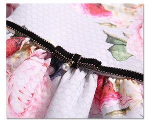 Image 4 - Bahar çocuk marka elbiseler A line çiçek gül bebek kız elbise zarif prenses elbise kız elbise 0 2T