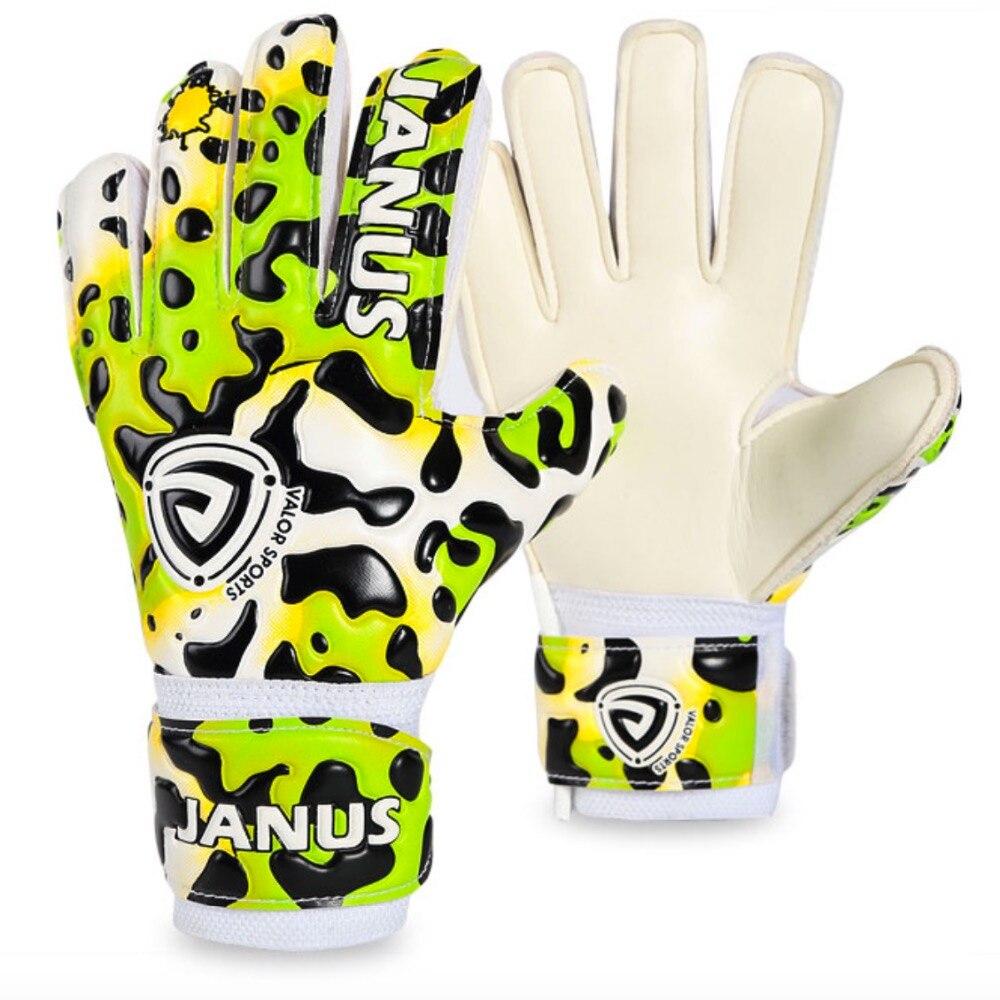 Janus JA939 Child Professional Football Goalkeeper Gloves Soccer Glove Keeper Finger Protection Colorful leopard Kids Boy