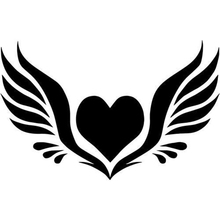Angel Wings Heart Home Decor Car Truck Window Decal Sticker Rear Modern