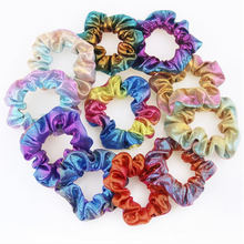 1 Pcs Women Elastic Hair Rope Ring Tie Scrunchie Ponytail Holder Shiny Hair Band Newly Hairstyle Holding Band Styling Tool