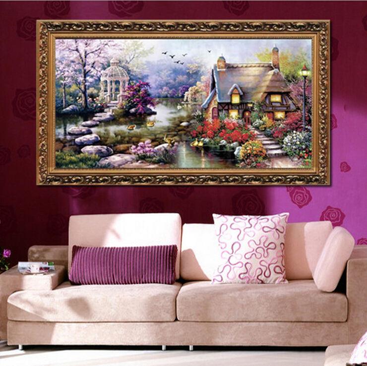 DIY cross-stitch kits Set for embroidery stitch scenic Garden Cottage European Cross stitch pattern on the canvas Needle Arts