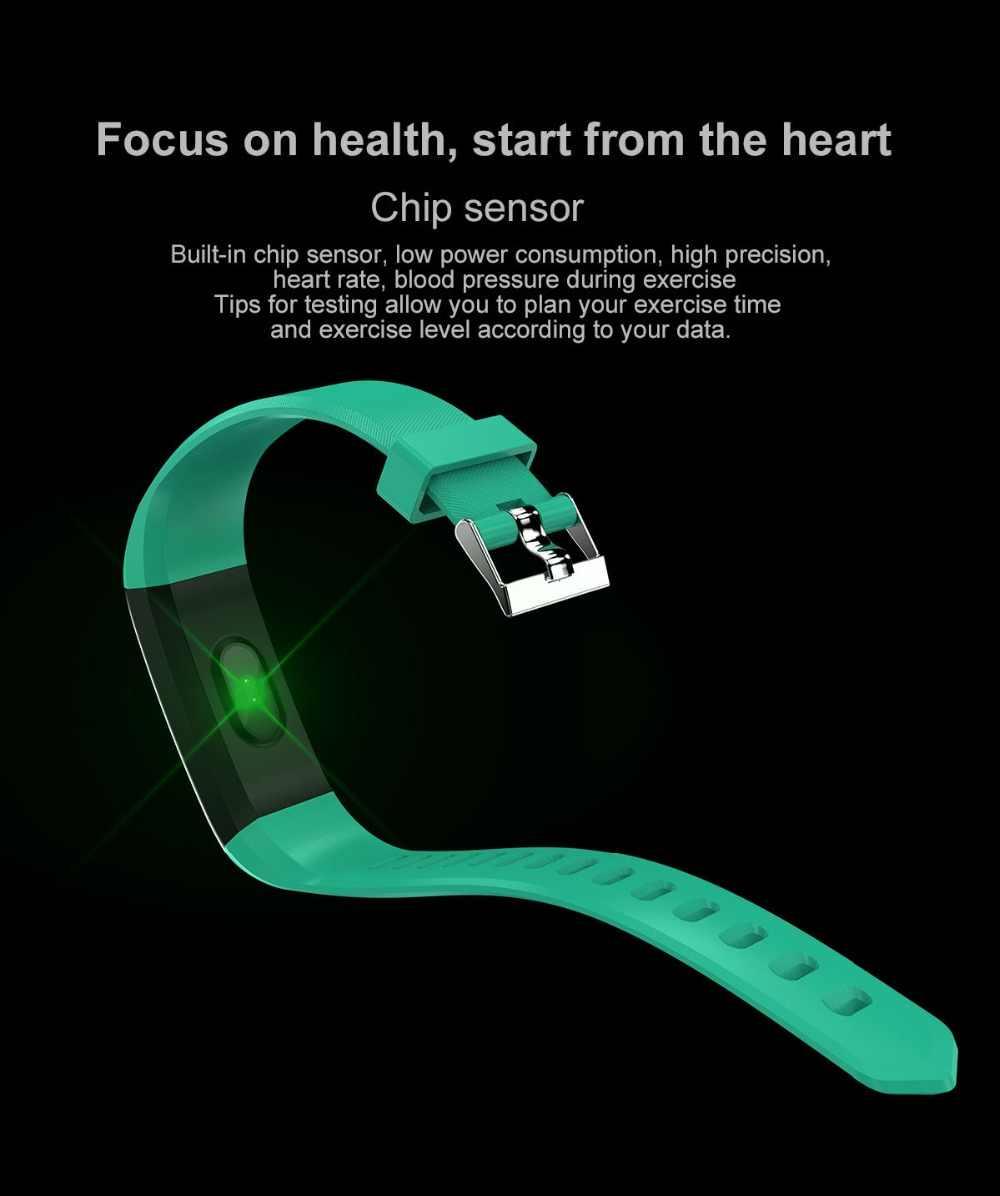 גברים נשים כושר שעון חכם צמיד ספורט Bluetooth דיגיטלי צמיד לב לחץ דם קצב פדומטר עבור אנדרואיד iOS