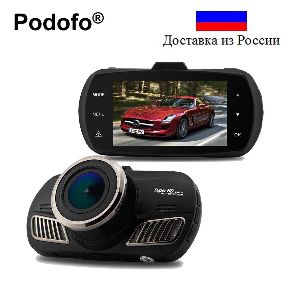 A12 Podofo Ambarella Car DVR Gravador de Vídeo Super HD 1440 P Car Dashboard Câmera Dashcam com Rastreamento GPS Blackbox D201 DVRs