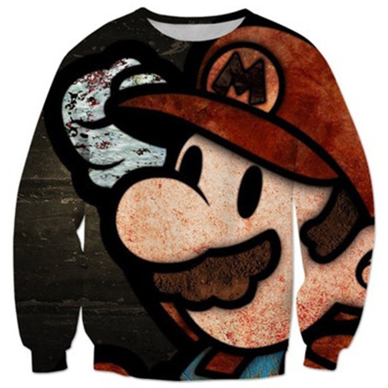 LiZhiYang NEW Fashion hot style men or womens 3D print the Super Mario sweatshirt enchantress pullover hoodies free shipping ...
