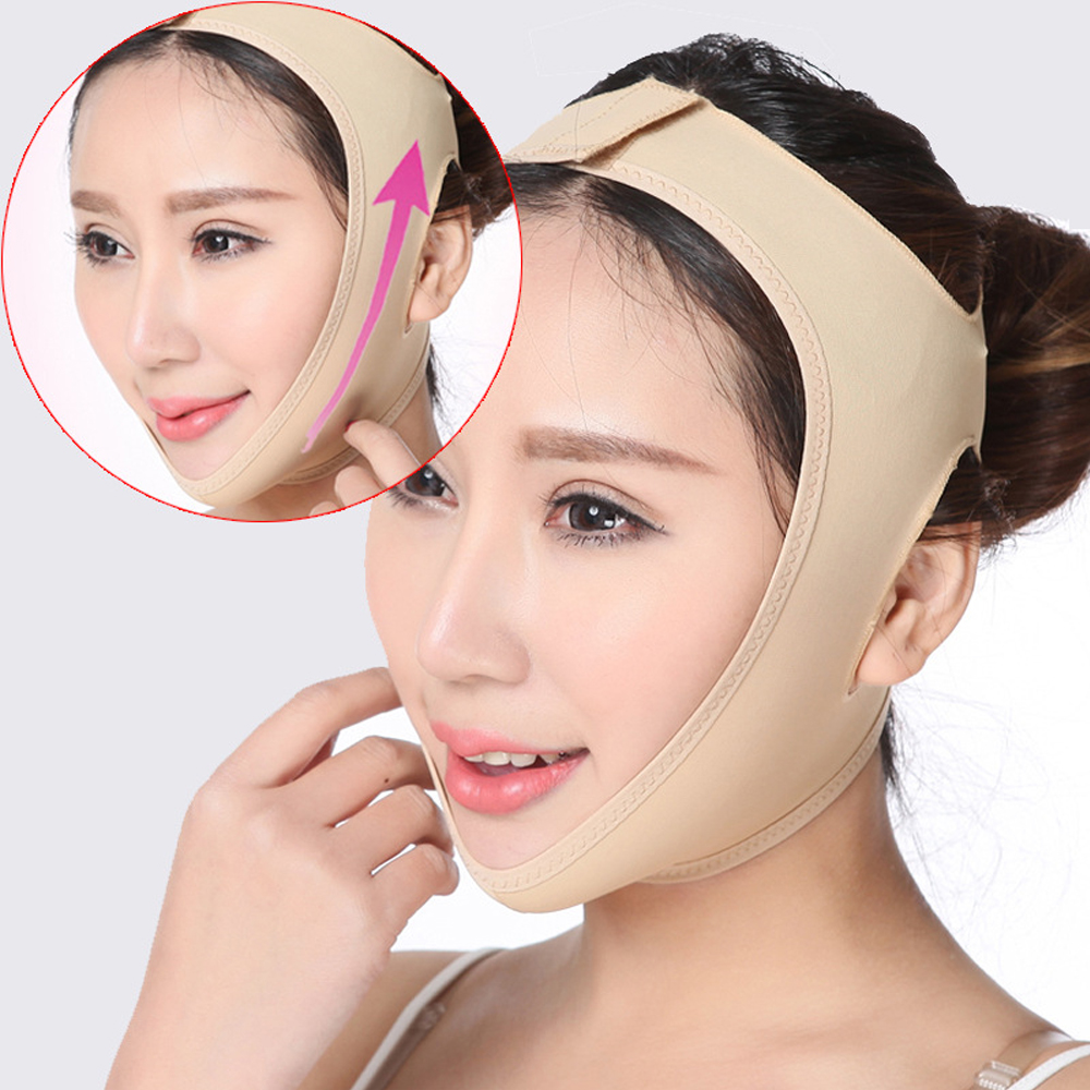 V Shaper Facial Slimming Bandage Relaxation Lift Up Belt Shape Lift Reduce Double Chin Face Mask Thinning Band Women Portable