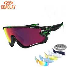 OBAOLAIY JBR Brand Polarized Cycling Sun Glasses Bike Sunglasses Men Outdoor Sport Bicycle Sunglass MTB Goggles Women Eyewear