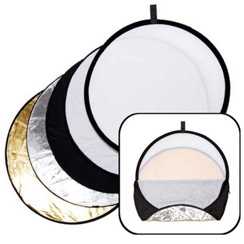 "Photography 5 in 1 110cm Reflector 43"" Portable Collapsible Light Round Reflector for Studio Video Accessories Multi Photo Disc"