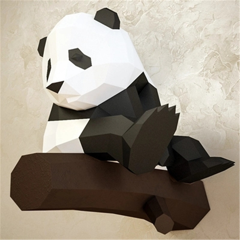 Building & Construction Toys Seated Paper Panda Model Toys 3d Diy Material Manual Creative Party Show Props Lovely Tide Decorate Panda Image Gift For Kids Toys & Hobbies