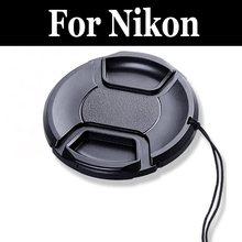 Крышка объектива со сдавливаемой к центру Кепки крышка капота для с сигнализация против потери для nikon D5100 D5200 D5300 D5500 D5600 D600 D610 D7000 D7100 D7200