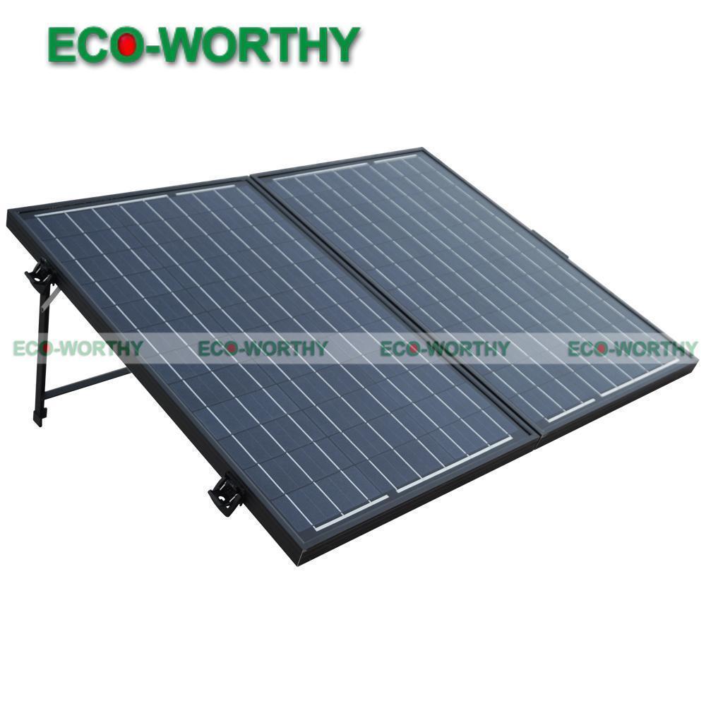 ECO WORTHY 100 Monocrystaline 太陽光発電折りたたみ折りたたみソーラーパネルの完全なキット 12V バッテリーオフグリッドソーラー発電機  グループ上の 家電製品 からの 太陽電池 の中 1