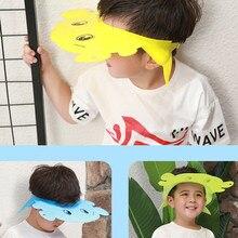 1 unid ajustable bebé sombrero niño niños Shampoo baño ducha casquillo lavar  pelo escudo para el bfade4e139f