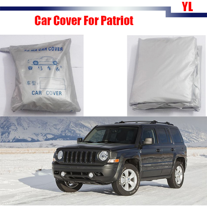 Cawanerl Car Cover SUV Anti UV Scratch Sunshade Snow Sun Rain Resistant Cover Dustproof For Jeep