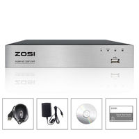 ZOSI 8 Channel TVI 4 IN 1 DVR 720P Security CCTV DVR 8CH Mini Hybrid HDMI