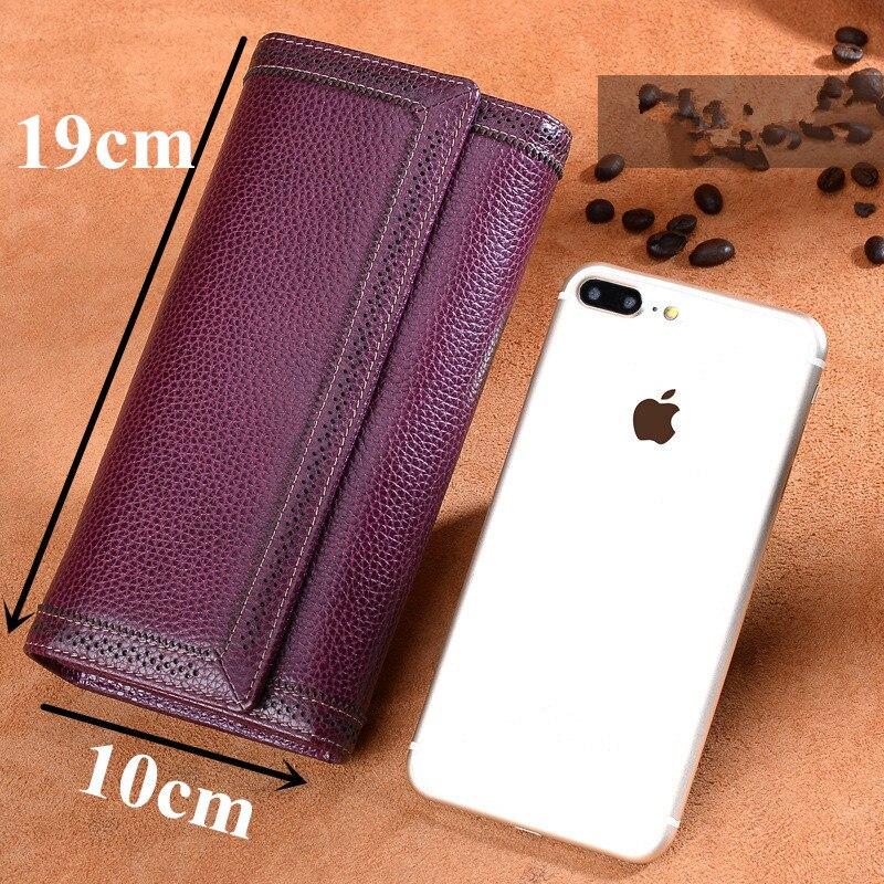 ICEV кошелек из натуральной кожи женский кошелек с выемкой высокое качество воловья кожа держатель для карт карман для сотового телефона женский дневной клатч - 5
