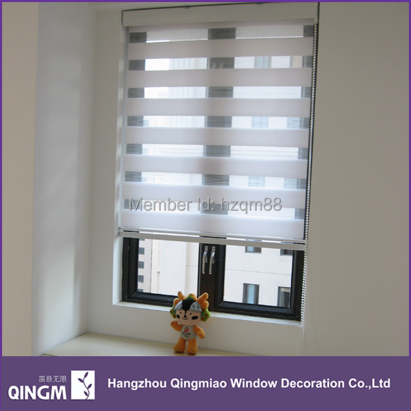 Aliexpress Com Buy 100 Polyester Zebra Blinds Double Layer Roller Blinds Sheer Shades Custom Made To Measure Many Colour Available From Reliable Blind