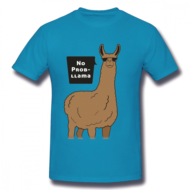 Unisex No Prob Llama TShirt Llama Top Funny Farm Animal Gift Present Alpaca