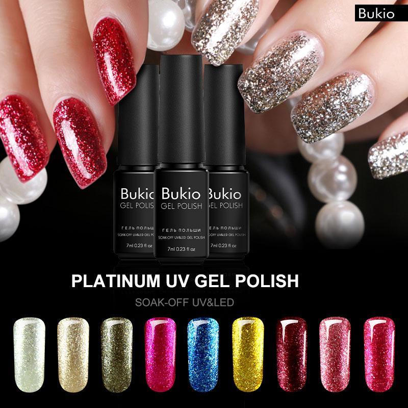 bukio shining platinum nail gel